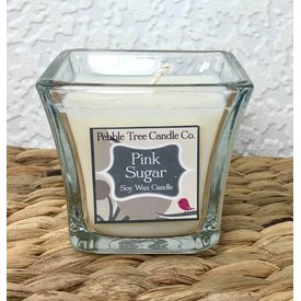 Pebble Tree Candle Co. Pink Sugar - Soy Wax Candle - 5oz Flare