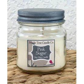 Pebble Tree Candle Co. Pink Sugar - Soy Wax Candle - 8oz Mason