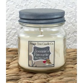 Pebble Tree Candle Co. Joannie's Favourite - Soy Wax Candle - 8oz Mason