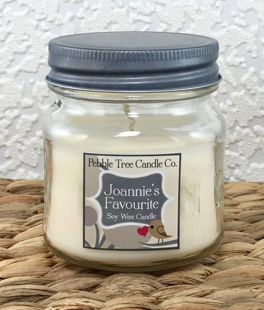 Pebble Tree Candle Co. Joannie's Favourite - Soy Wax Candle - 8oz Mason