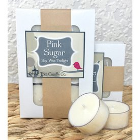 Pebble Tree Candle Co. Pink Sugar - Soy Wax Tealight - Package of 6