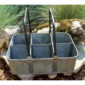 Home Decor Galvanized Planter with Handles