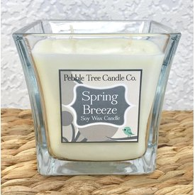 Pebble Tree Candle Co. Spring Breeze - Soy Wax Candle - 15oz Flare