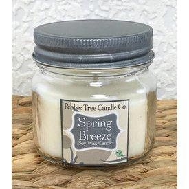 Pebble Tree Candle Co. Spring Breeze - Soy Wax Candle - 6oz Mason