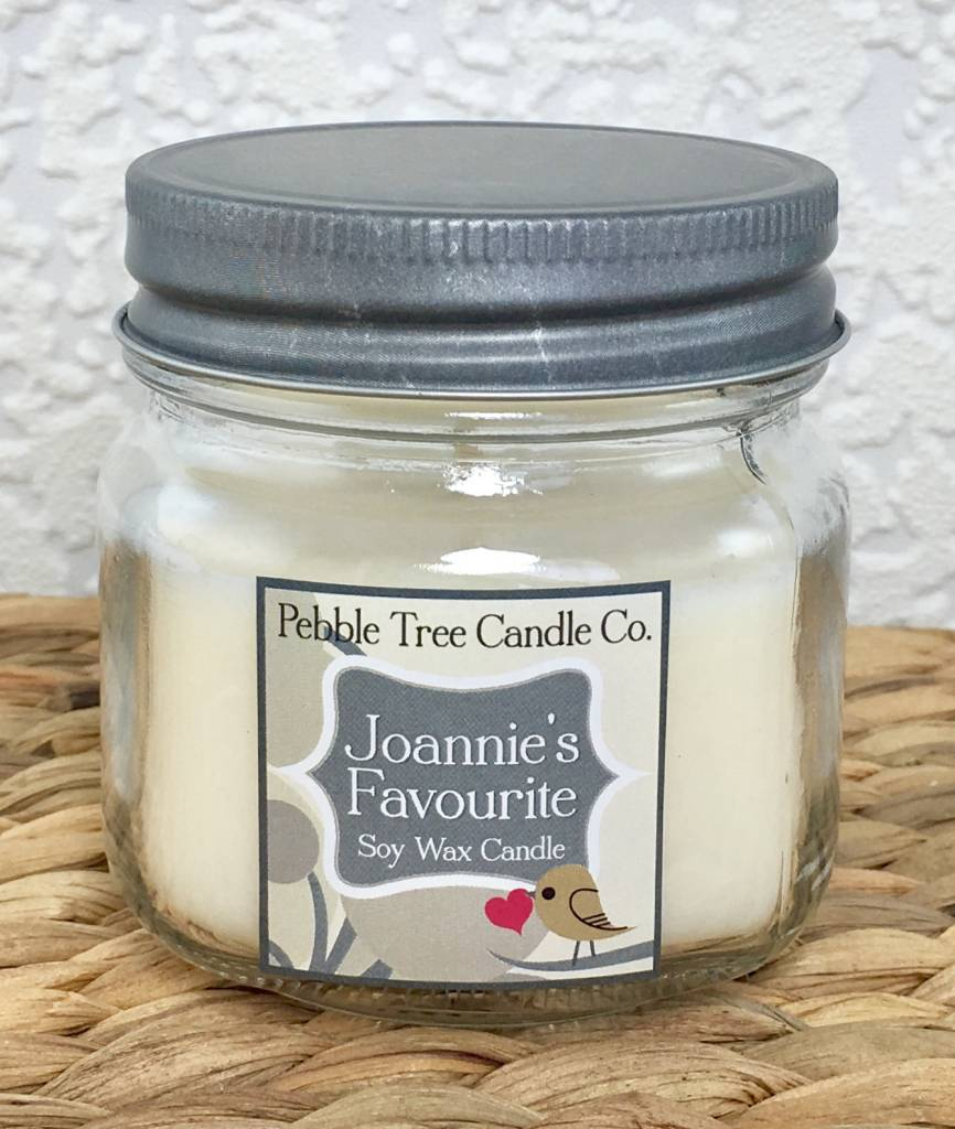 Pebble Tree Candle Co. Joannie's Favourite - Soy Wax Candle - 6oz Mason