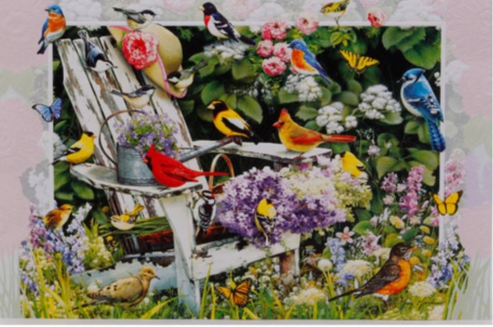 Home Decor Garden Party Birthday Card - 80301
