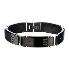 Inox Stainless Steel Jewelry Stainless Steel Black Gun Metal Bracelet - BR102615