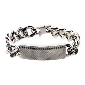 Inox Stainless Steel Jewelry Stainless Steel Curb ID Chain Bracelet - BRRA128