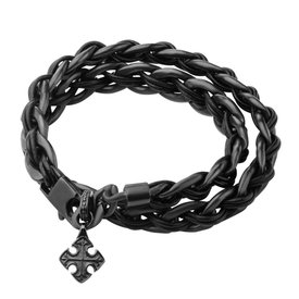 Inox Stainless Steel Jewelry Stainless Steel Curb Chain Wrap Bracelet with Anchor - BRRA146