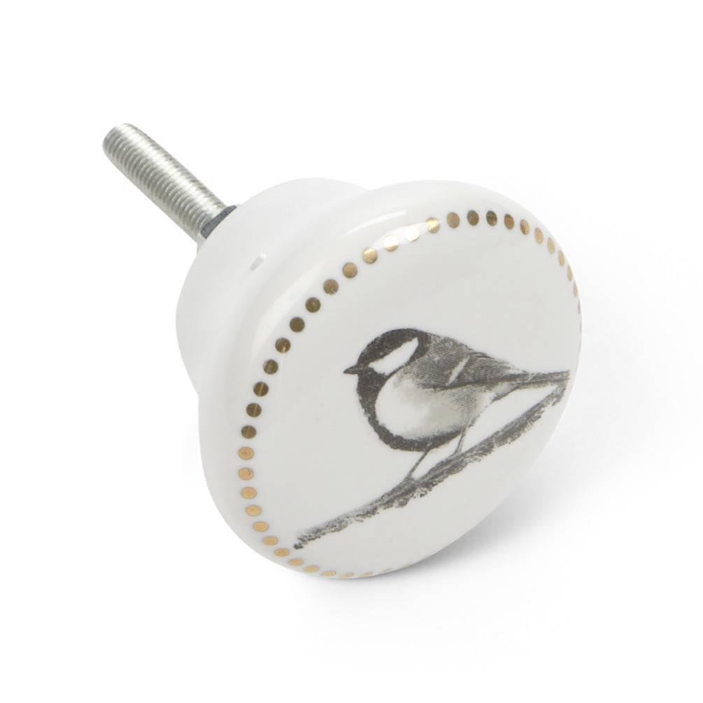Chickadee Drawer Pull/Knob with Dots