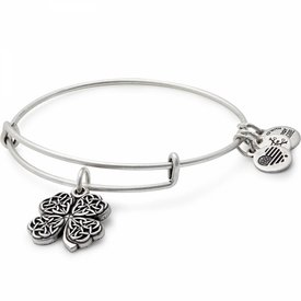 Four Leaf Clover Charm Bangle - Rafaelian Silver - A17EB28RS