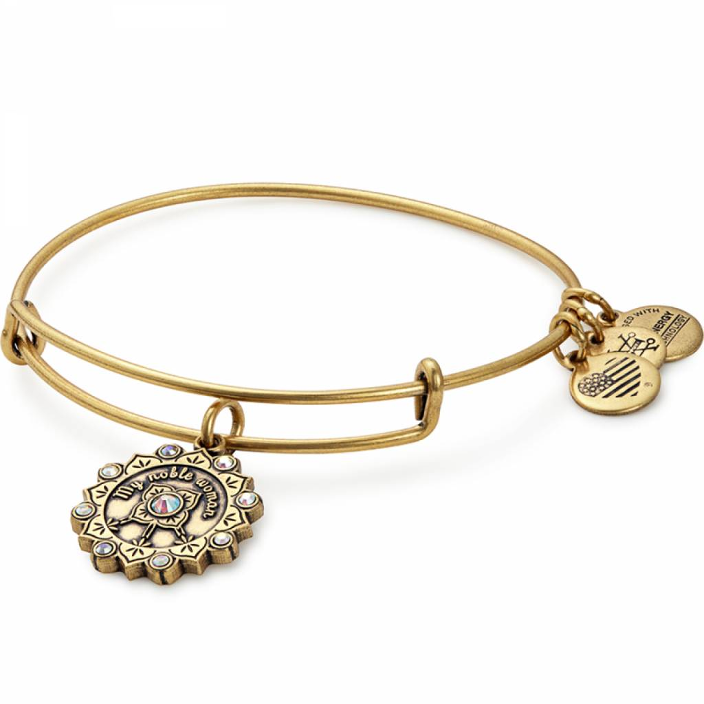 Maid of Honor Charm Bangle - Rafaelian Gold - A17EBMOHRG