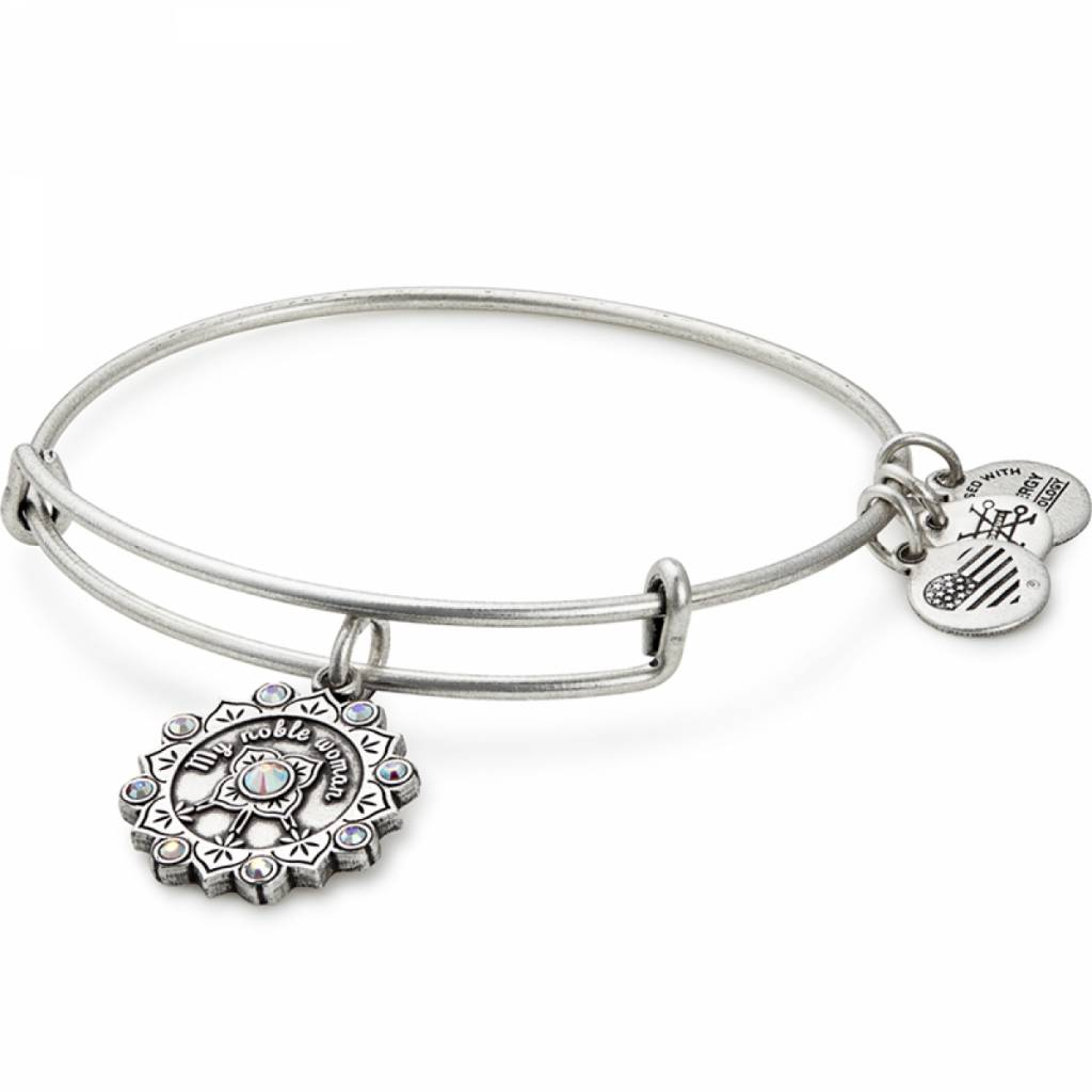 Maid of Honor Charm Bangle - Rafaelian Silver - A17EBMOHRS