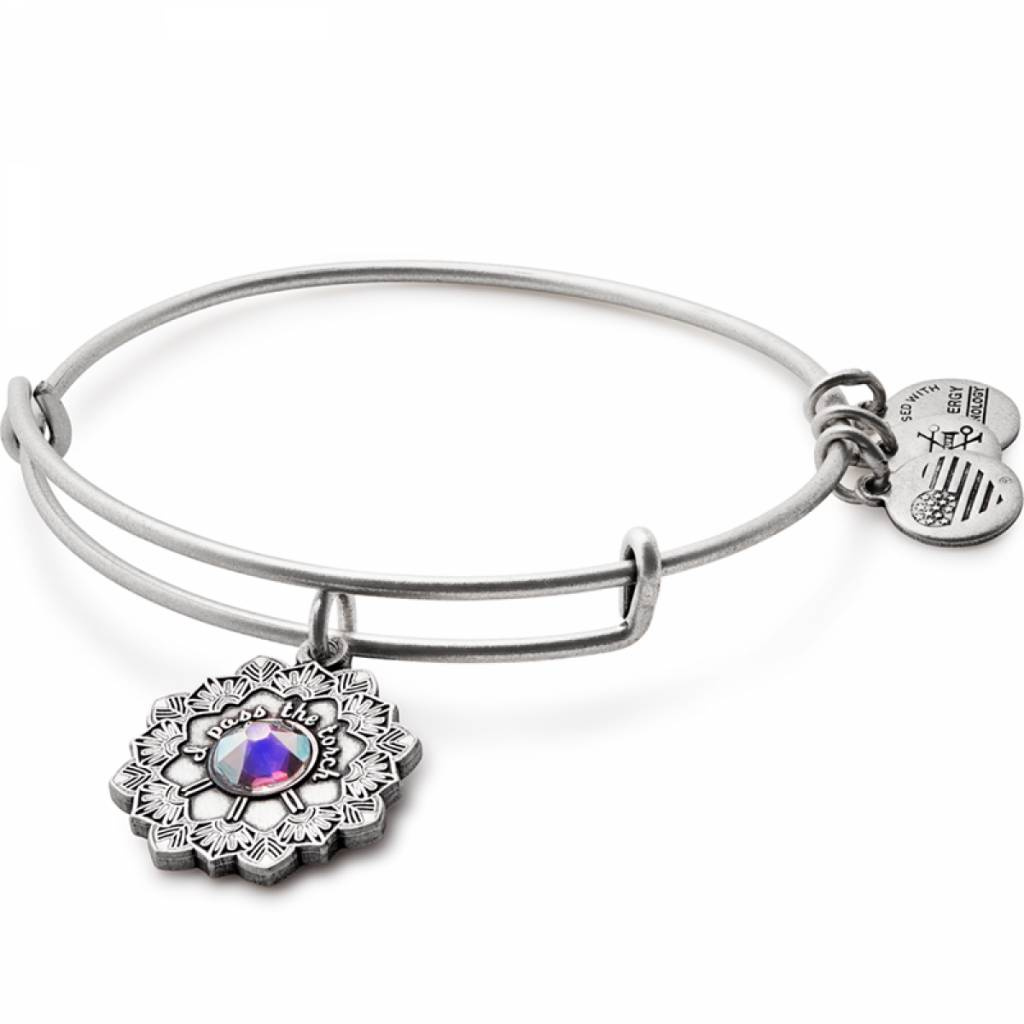 Mother of the Bride Charm Bangle - Rafaelian Silver - A17EBMOBRS