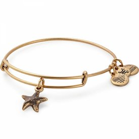 Starfish Charm Bangle - Rafaelian Gold - A17EBSTRFRG