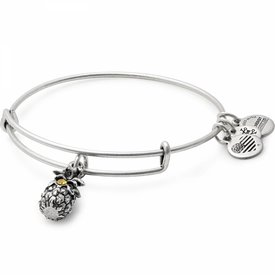 Pineapple Charm Bangle - Rafaelian Silver - A17EB26RS