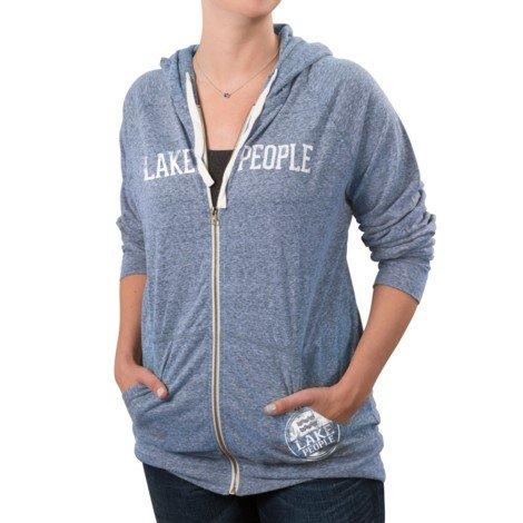 Lake People Hooded Sweatshirt Blue Unisex