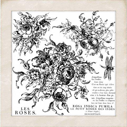 Iron Orchid Designs - Rose Toile Decor Stamp - DEC-STA-ROS