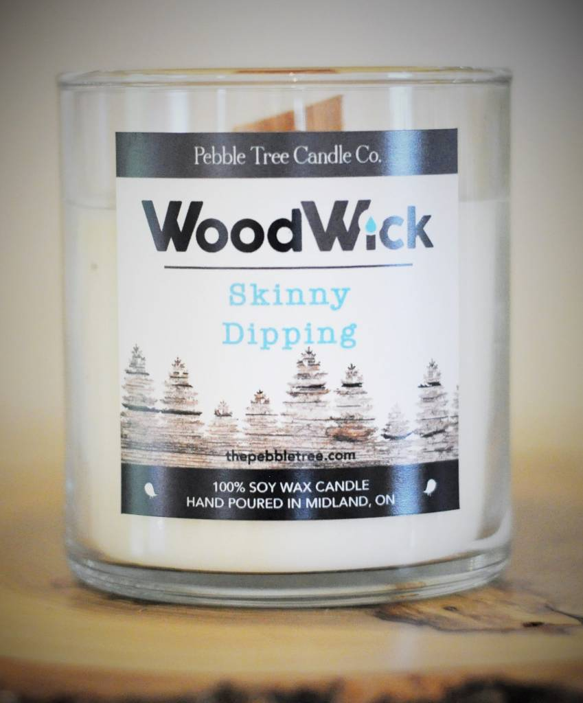 Pebble Tree Candle Co. Skinny Dipping Wood Wick - Soy Wax Candle