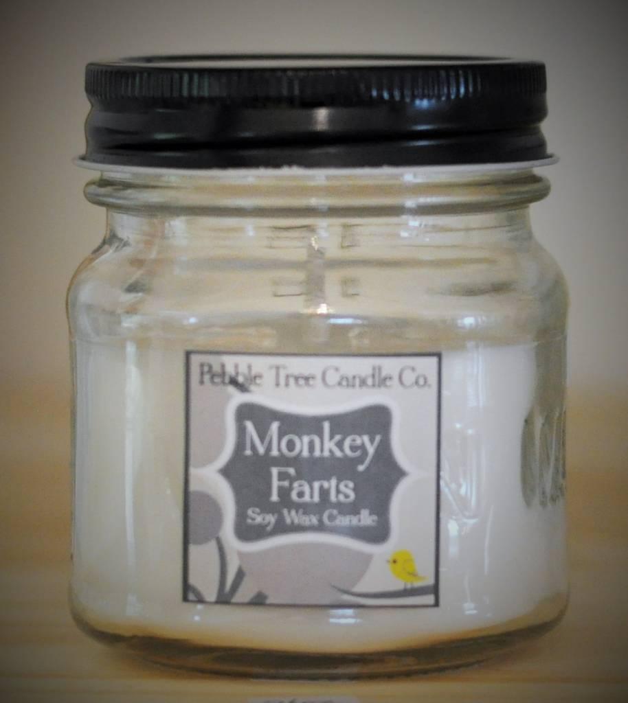Pebble Tree Candle Co. Monkey Farts - Soy Wax Candle - 8oz Mason