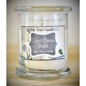 Pebble Tree Candle Co. Cool Citrus Basil Soy Wax Candle - 12oz Status