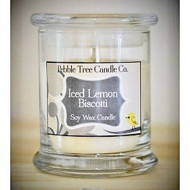 Pebble Tree Candle Co. Iced Lemon Biscotti Soy Wax Candle - 12ozstat