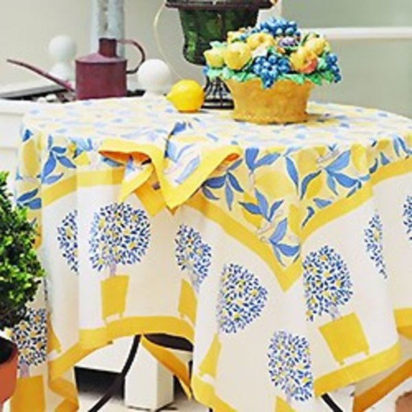 Exceptional Lemon Tree Tablecloth