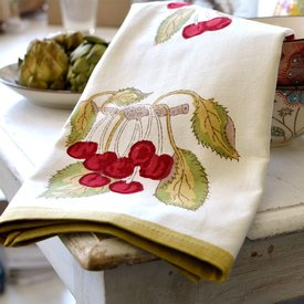 Cherry Tea Towel