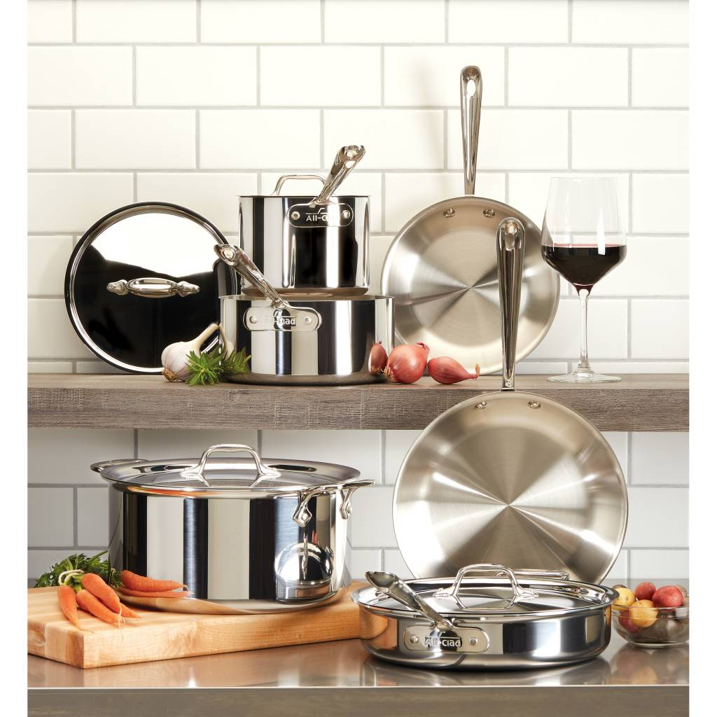 Exceptionnel All Clad 10 Piece Stainless Steel Cookware Set