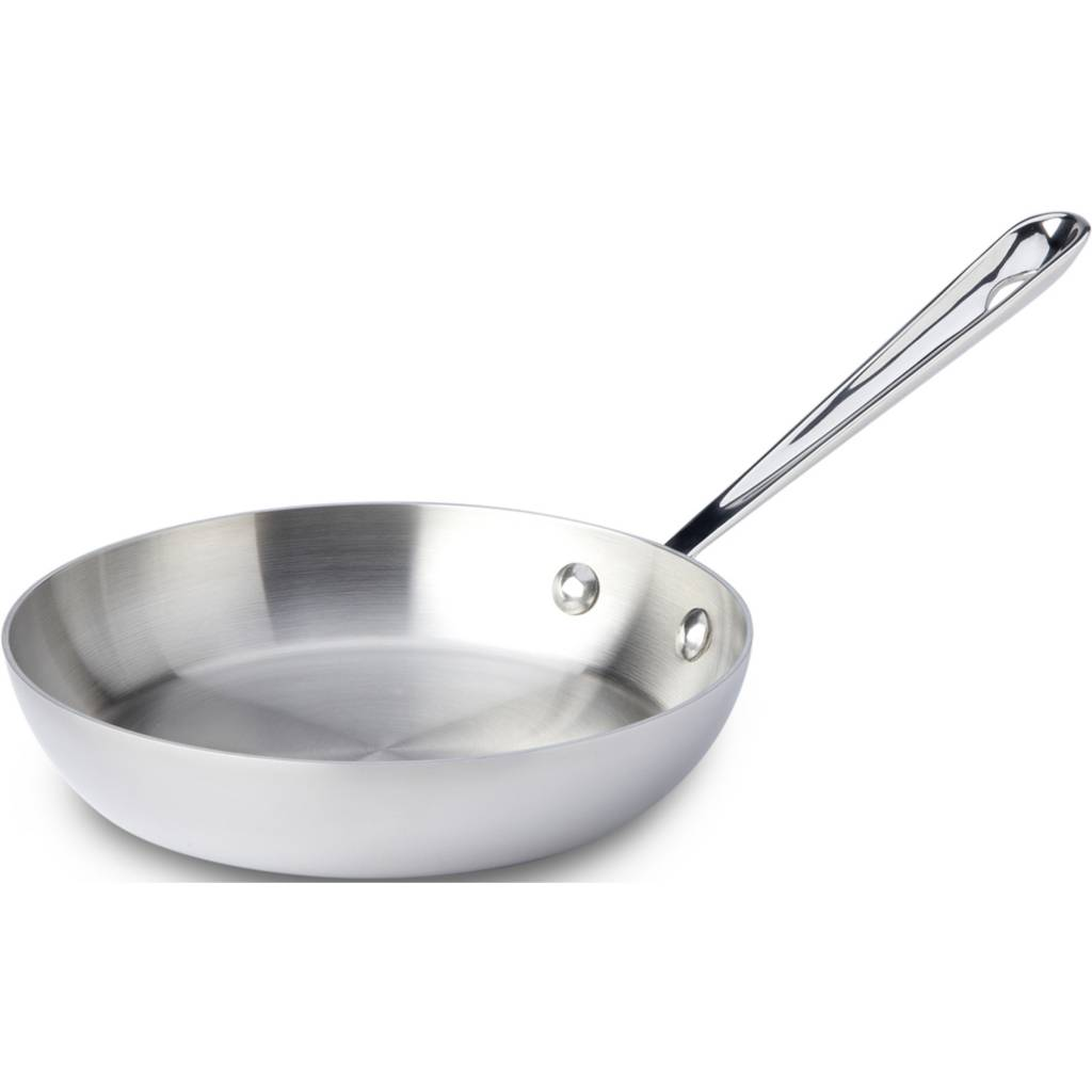 """All Clad 11"""" Stainless Steel French Skillet"""