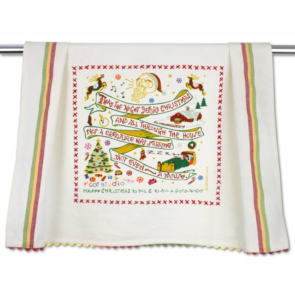 Catstudio Christmas Dish Towels