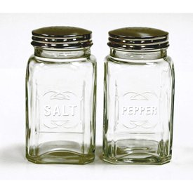 Retro Salt & Pepper Shakers, Clear