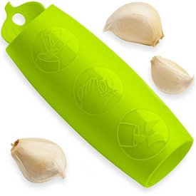 Kuhn Rikon Garlic Peeler, Green