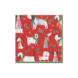 Christmas Canines Cocktail Napkin