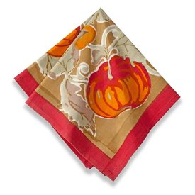 Pumpkin Green/Red Napkins