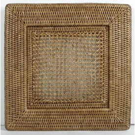 Rattan Square Charger Plate