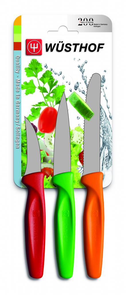Wüsthof Zest 3 Piece Paring Knife Set