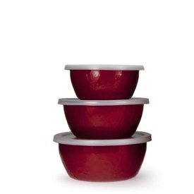 Solid Red Nesting Bowls