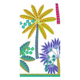 Paradise Palms Paper Guest Towel Napkins in White
