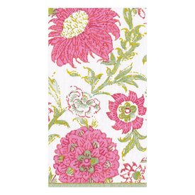 Indiennes Paper Guest Towel Napkins in Fuchsia