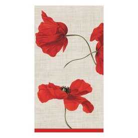 Dancing Poppies Ivory Guest Towel