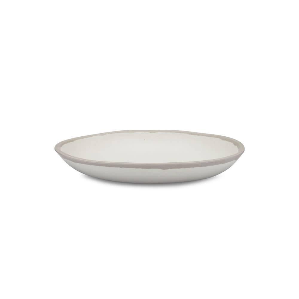 Potter Stone Gray Melamine Bamboo Salad Plate
