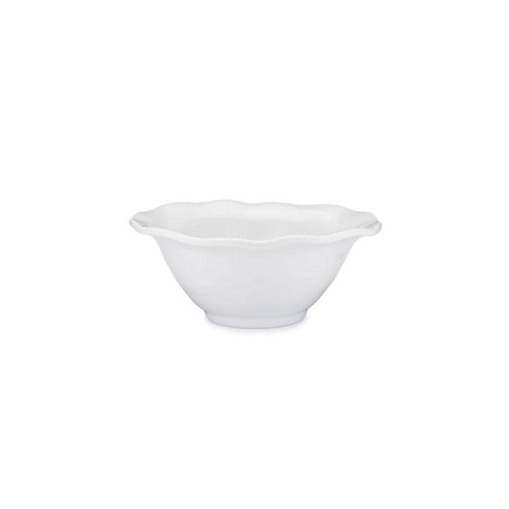 Ruffle White Melamine Round Cereal Bowl