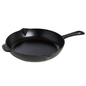 "10"" Cast Iron Fry Pan, Matte Black"