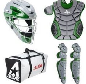 All Star All-Star Elite System Seven Catching Kit Dark-Green 9-12