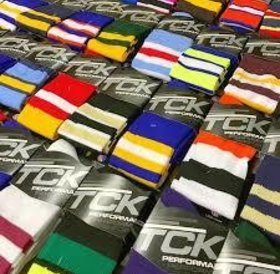 TCK performance royal and white sock