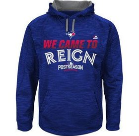 Majestic Majestic Blue Jays 2016 postseason '' We came to reign'' hoodie