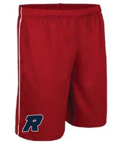 On Field Short On Field rouge avec poches et logo Royaux en serigraphie