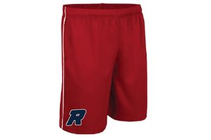On Field Short On Field rouge avec poches et logo Royaux en serigraphie