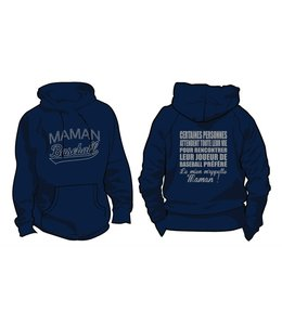 Authentic t-shirt company Kangourou Authentic Royaux Maman baseball bleu marine avec logo en serigraphie